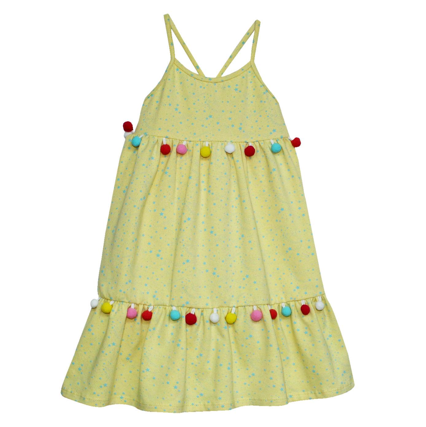Vestido Niña Asoleador Amarillo