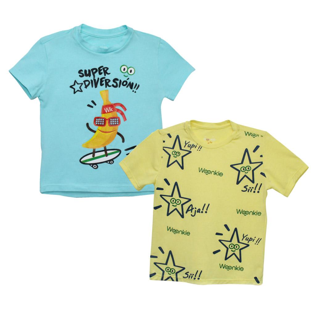 Promoción 2 camisetas para niño - Woonkie
